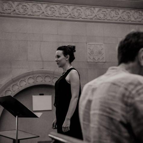 Avec l'organiste Richard Paré